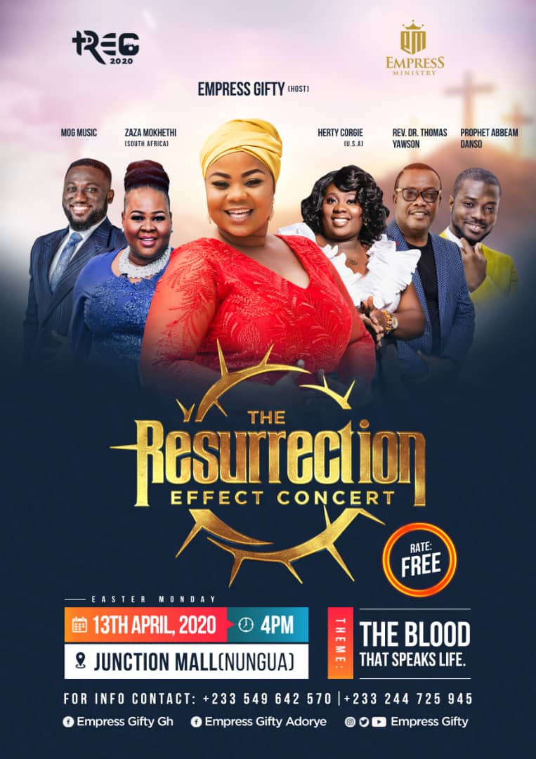 """Spectacular Launch of Empress Gifty's """"The Resurrection Effect Concert 2020"""""""