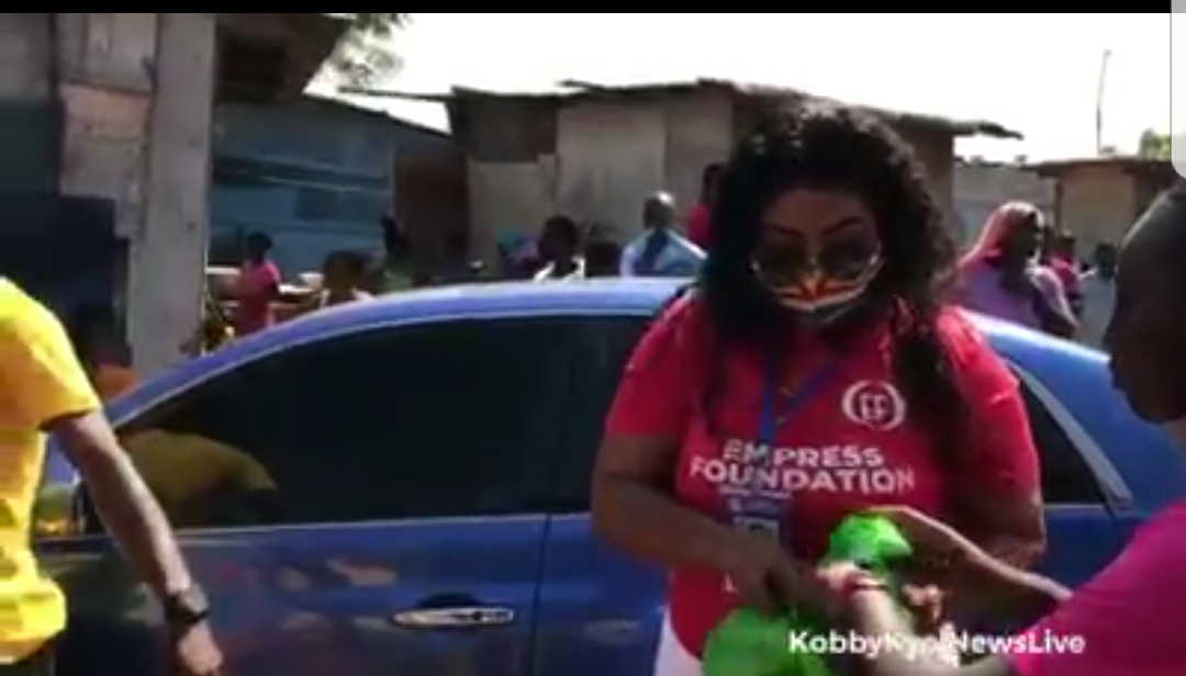 Covid-19: Empress Gifty Donates To The People Of Kpone Katamanso Constituency