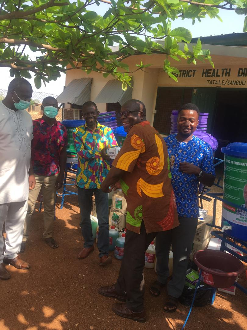 Tampi Acheampong Simon (MP) Donates To Tatale District Health Directorate For Fight Against Covid-19