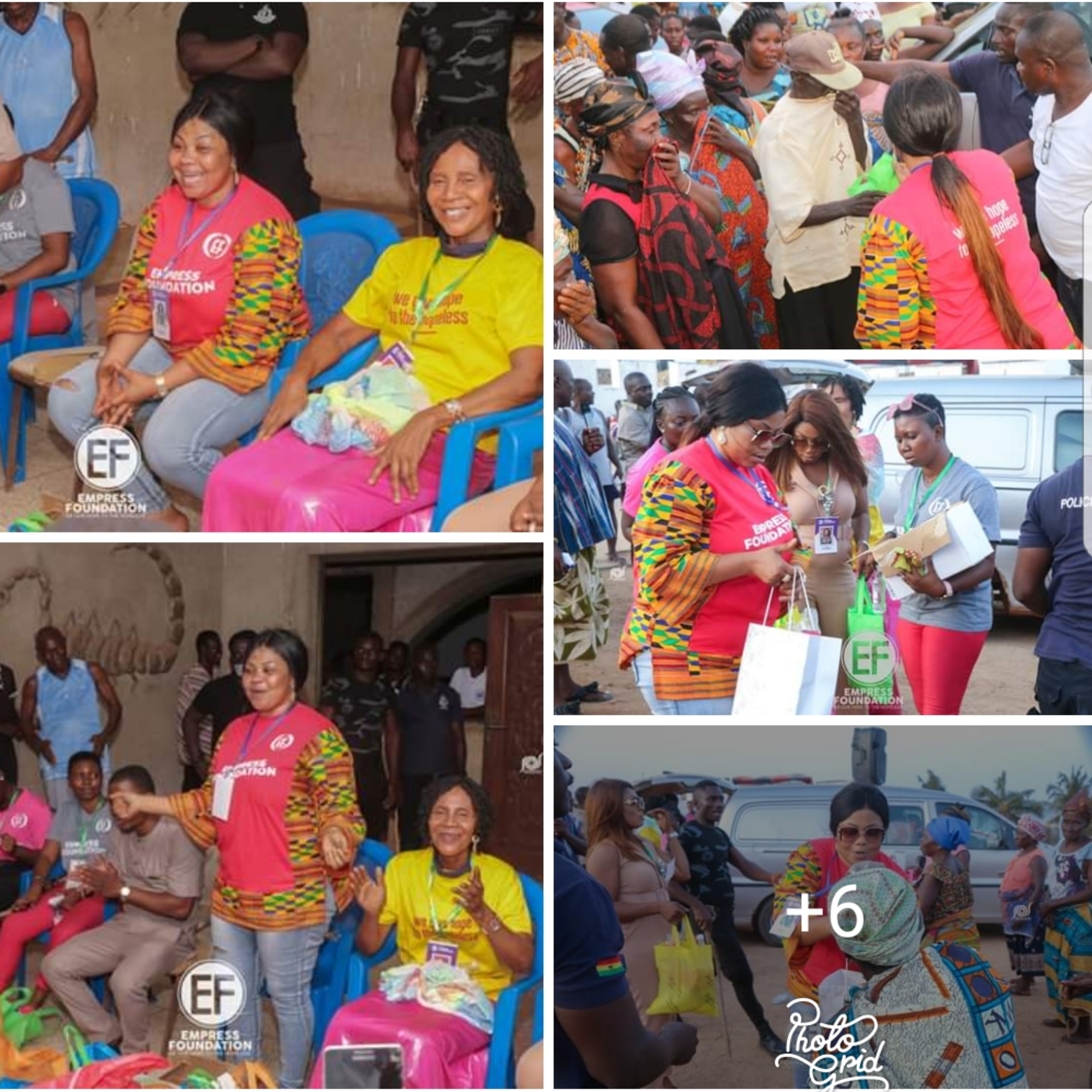 Covid-19: Empress Gifty And Her Foundation Have Reached Out To Widows And The Aged In Senya Bereku With Foodstuffs & Protective Items